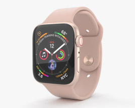 3D model of Apple Watch Series 4 44mm Gold Aluminum Case with Pink Sand Sport Band