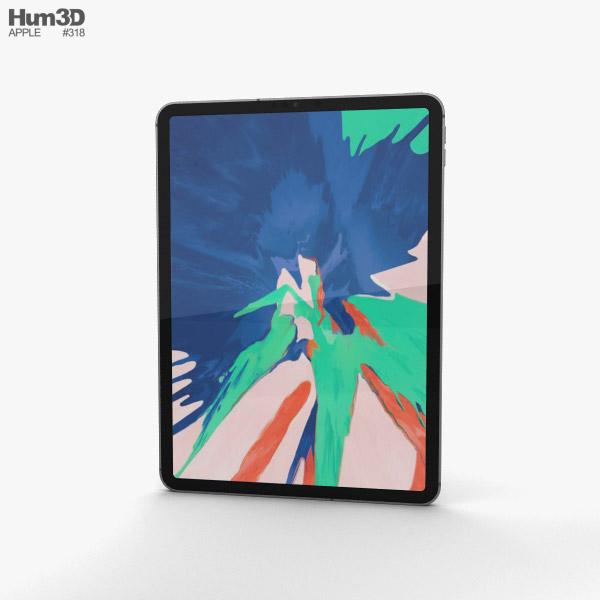 Apple iPad Pro 11-inch (2018) Space Gray 3D model