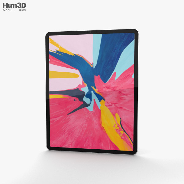 Apple iPad Pro 12.9-inch (2018) Silver 3D model