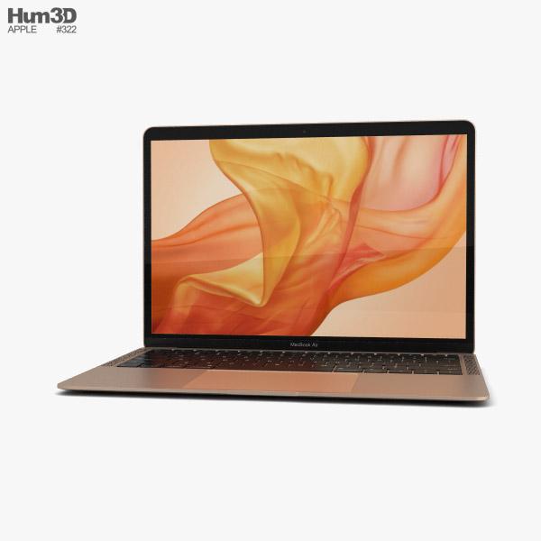 3D model of Apple MacBook Air (2018) Gold