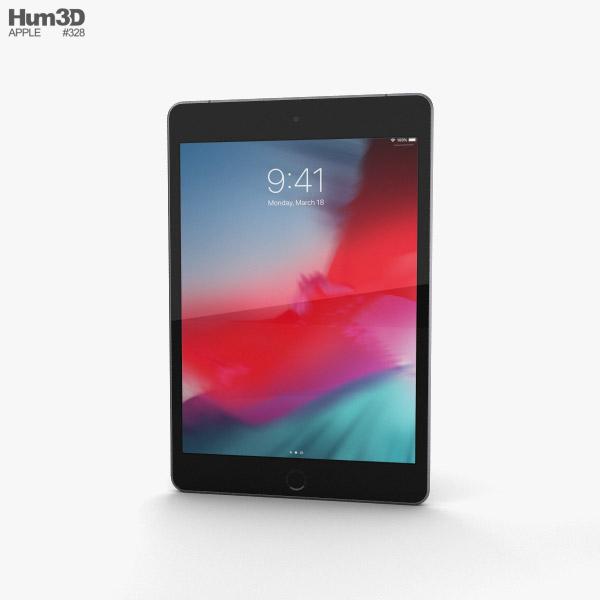 Apple iPad mini (2019) Cellular Space Gray 3D-Modell
