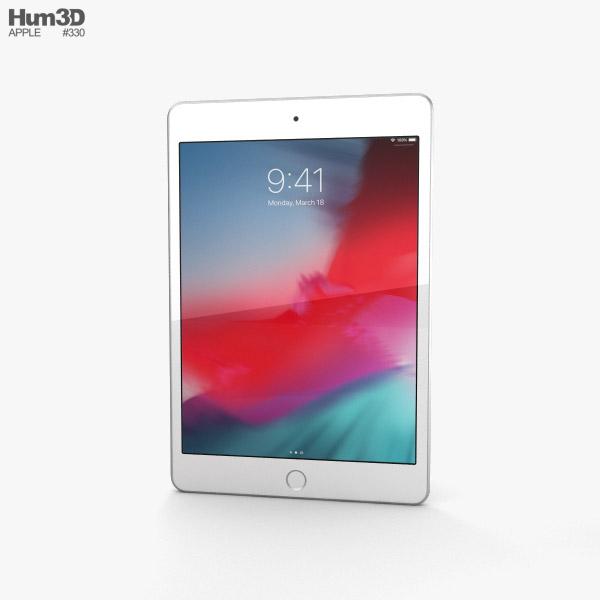 Apple iPad mini (2019) Silver 3D-Modell