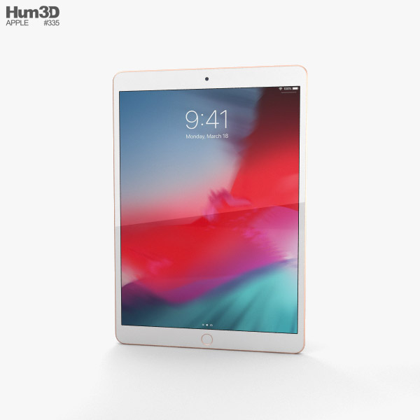 Apple iPad Air (2019) Gold 3D model