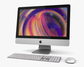 3D model of Apple iMac 21.5-inch (2019)