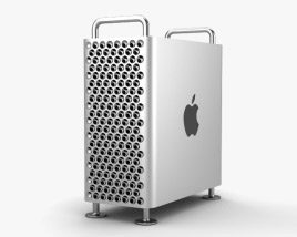 3D model of Apple Mac Pro 2019