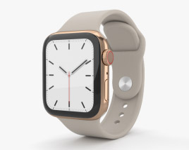 3D model of Apple Watch Series 5 40mm Gold Stainless Steel Case with Sport Band