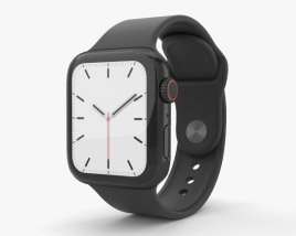 3D model of Apple Watch Series 5 40mm Space Black Stainless Steel Case with Sport Band