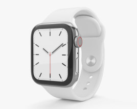 Apple Watch Series 5 40mm Stainless Steel Case with Sport Band 3D model
