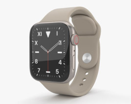 3D model of Apple Watch Series 5 40mm Titanium Case with Sport Band