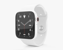 3D model of Apple Watch Series 5 44mm Ceramic Case with Sport Band