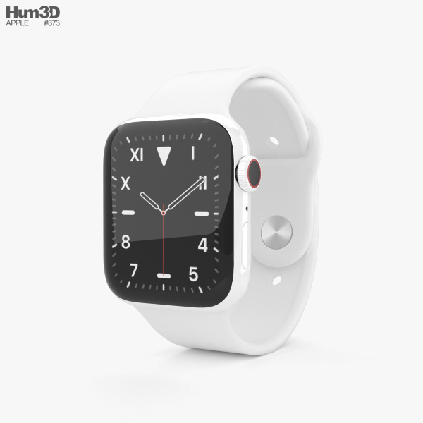 Apple Watch Series 5 44mm Ceramic Case with Sport Band 3D model
