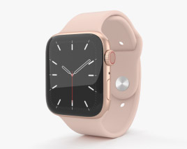 3D model of Apple Watch Series 5 44mm Gold Aluminum Case with Sport Band
