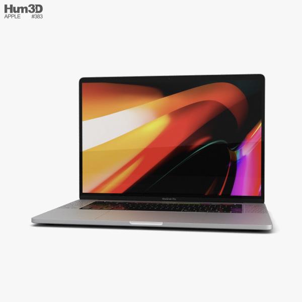 Apple MacBook Pro 16 inch (2019) Silver 3D model