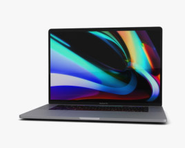 Apple MacBook Pro 16 inch Space Gray 3D model