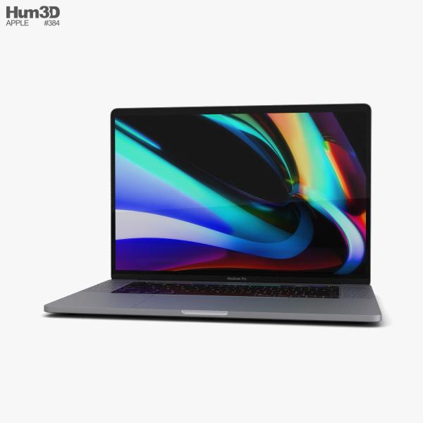 Apple MacBook Pro 16 inch Space Gray 3D model