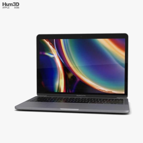 Apple MacBook Pro 13 inch (2020) Space Gray 3D model