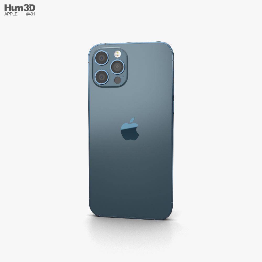 Apple iPhone 12 Pro Pacific Blue 3d model