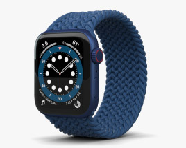 3D model of Apple Watch Series 6 44mm Aluminum Blue