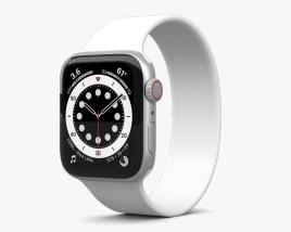 3D model of Apple Watch Series 6 44mm Aluminum Silver