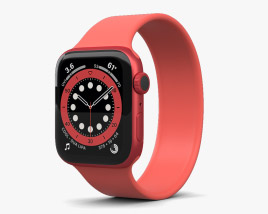3D model of Apple Watch Series 6 44mm Aluminum Red