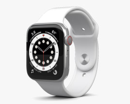 3D model of Apple Watch Series 6 44mm Stainless Steel Silver