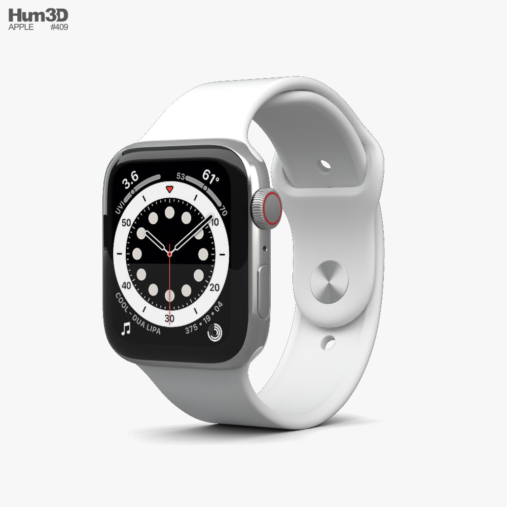 Apple Watch Series 6 44mm Stainless Steel Silver 3D model