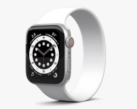 Apple Watch Series 6 40mm Aluminum Silver 3D model
