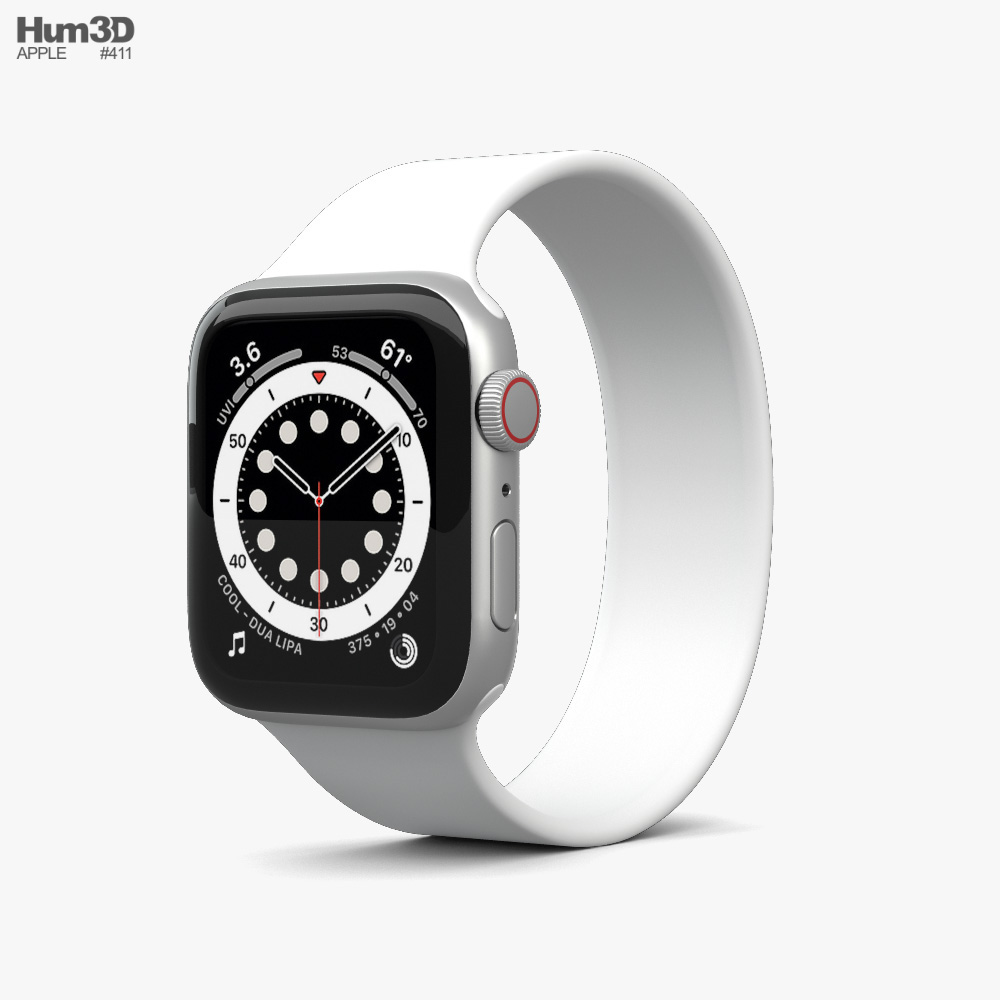 Apple Watch Series 6 40mm Aluminum Silver 3D model