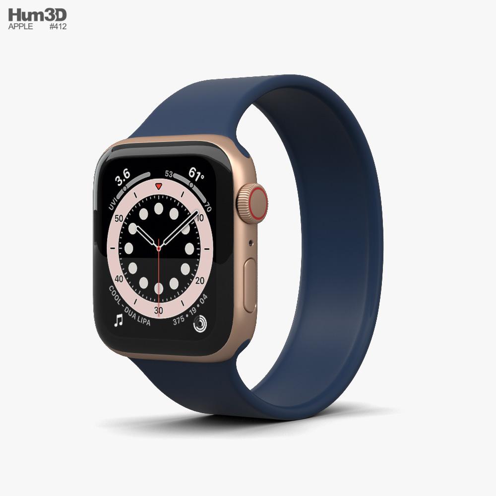 Apple Watch Series 6 40mm Aluminum Gold 3D model