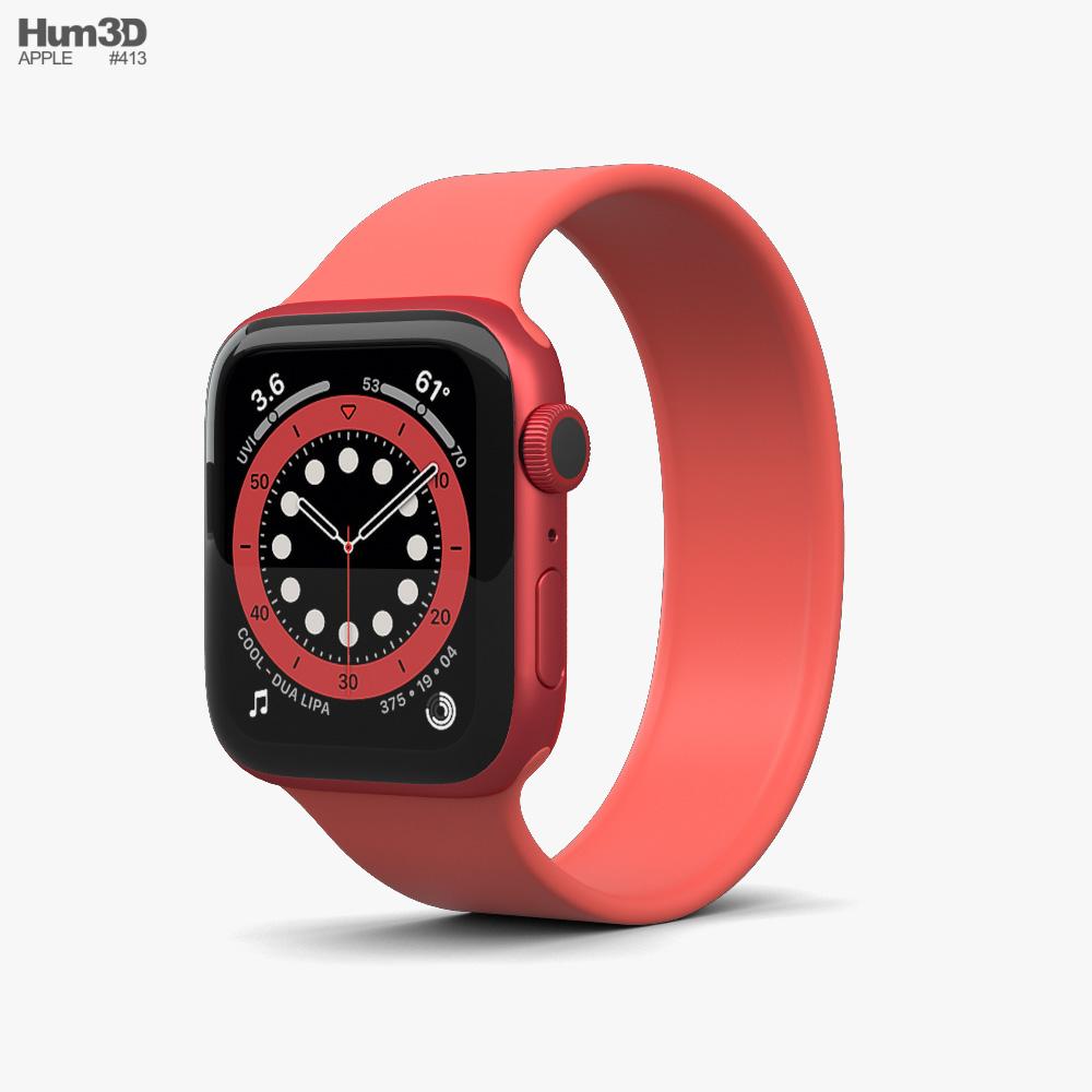 Apple Watch Series 6 40mm Aluminum Red 3D model