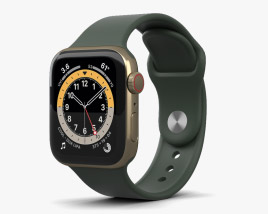 Apple Watch Series 6 40mm Stainless Steel Gold 3D model