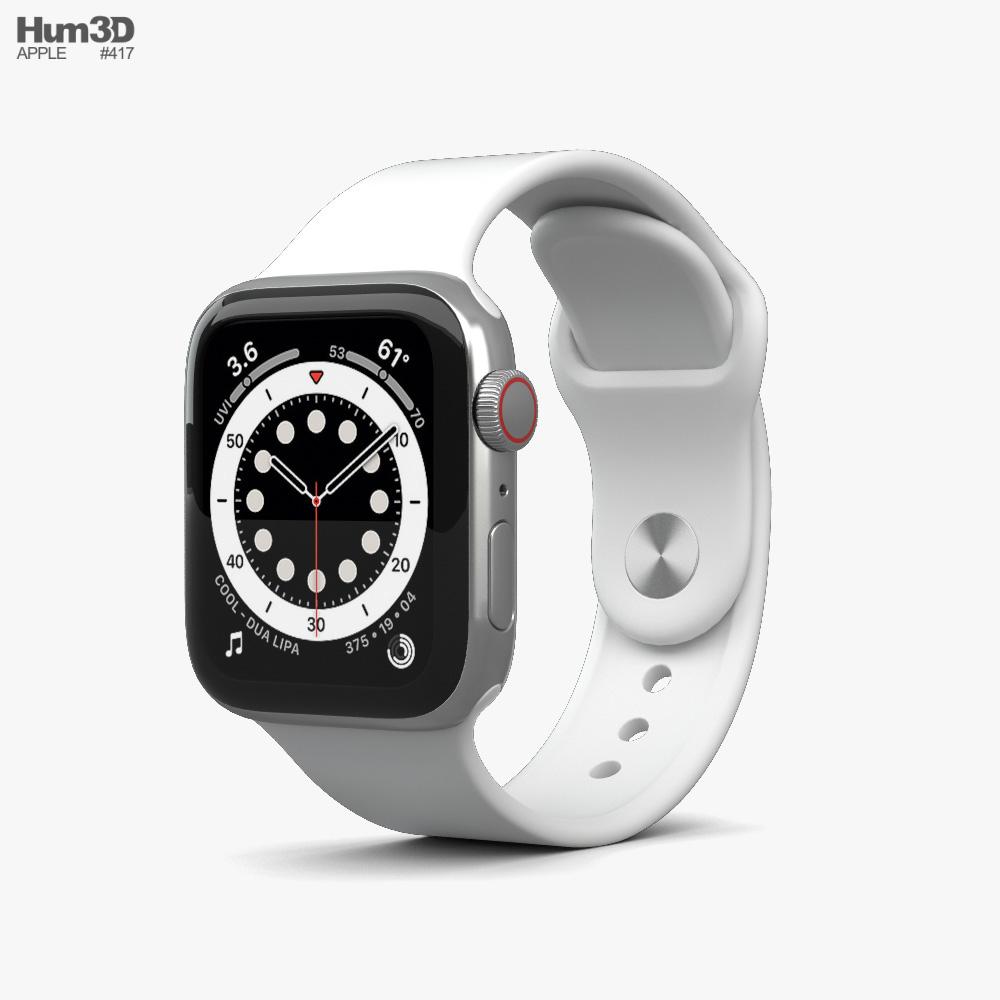 Apple Watch Series 6 40mm Stainless Steel Silver 3D model