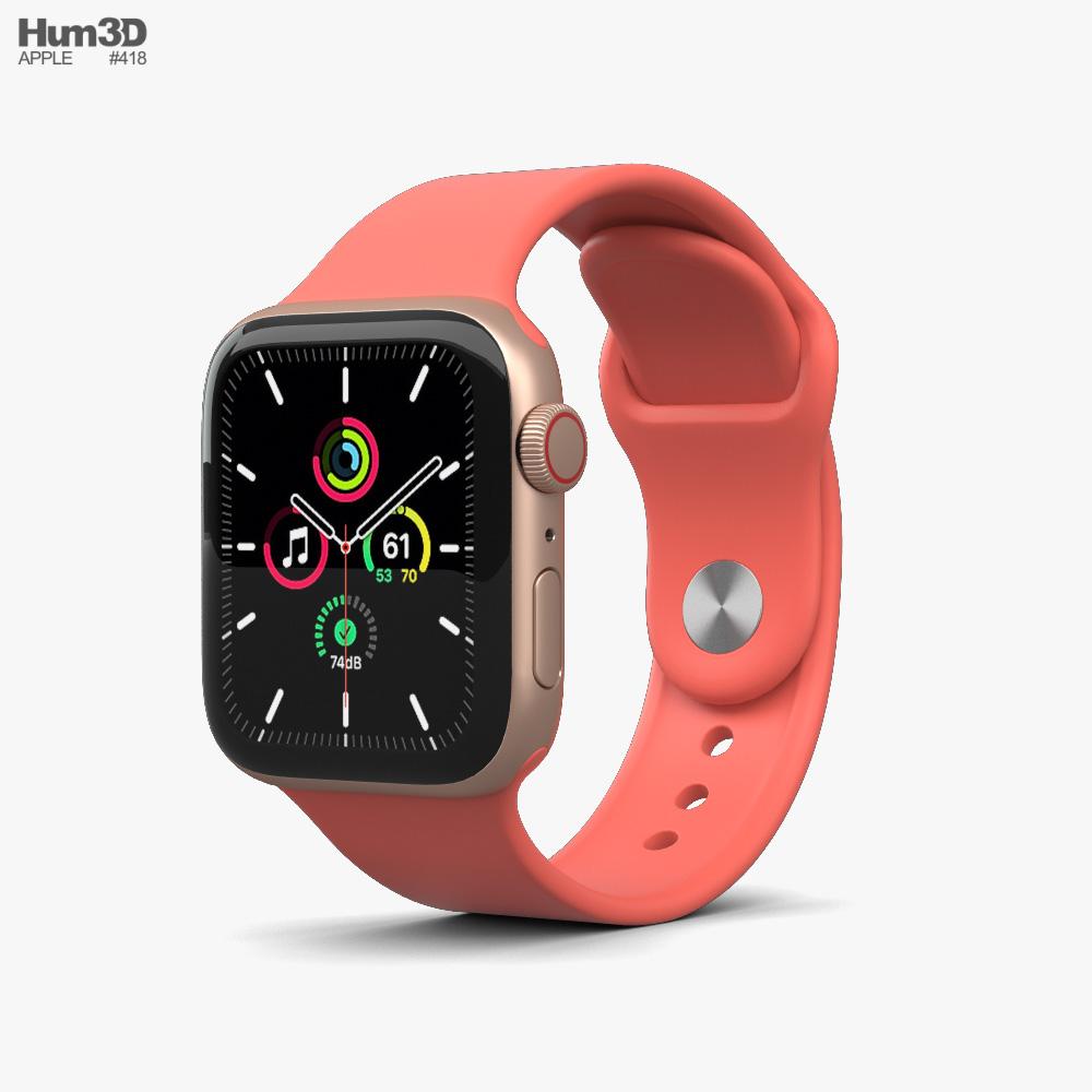 Apple Watch SE 40mm Aluminum Gold 3D model