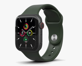 Apple Watch SE 40mm Aluminum Space Gray 3D model