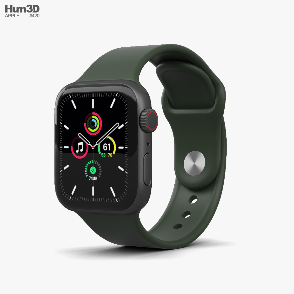 Apple Watch SE 40mm Aluminum Space Gray 3D model