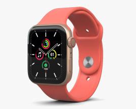 3D model of Apple Watch SE 44mm Aluminum Gold