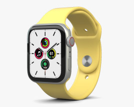 Apple Watch SE 44mm Aluminum Silver 3D model