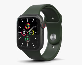 3D model of Apple Watch SE 44mm Aluminum Space Gray