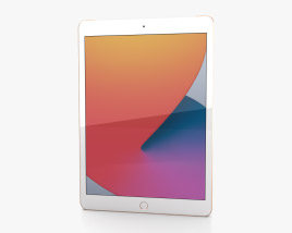 3D model of Apple iPad 10.2 2020 Cellular Gold