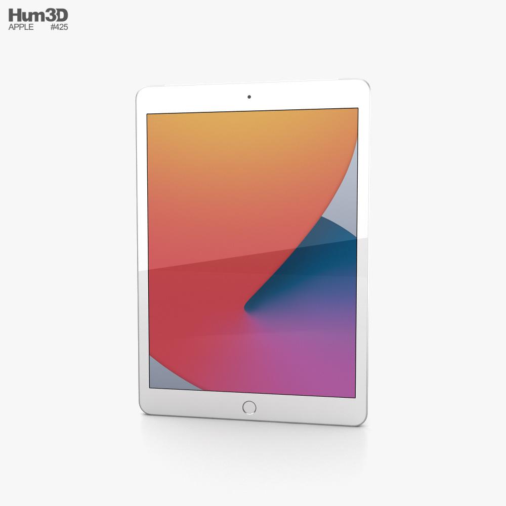 Apple iPad 10.2 2020 Cellular Silver 3D model