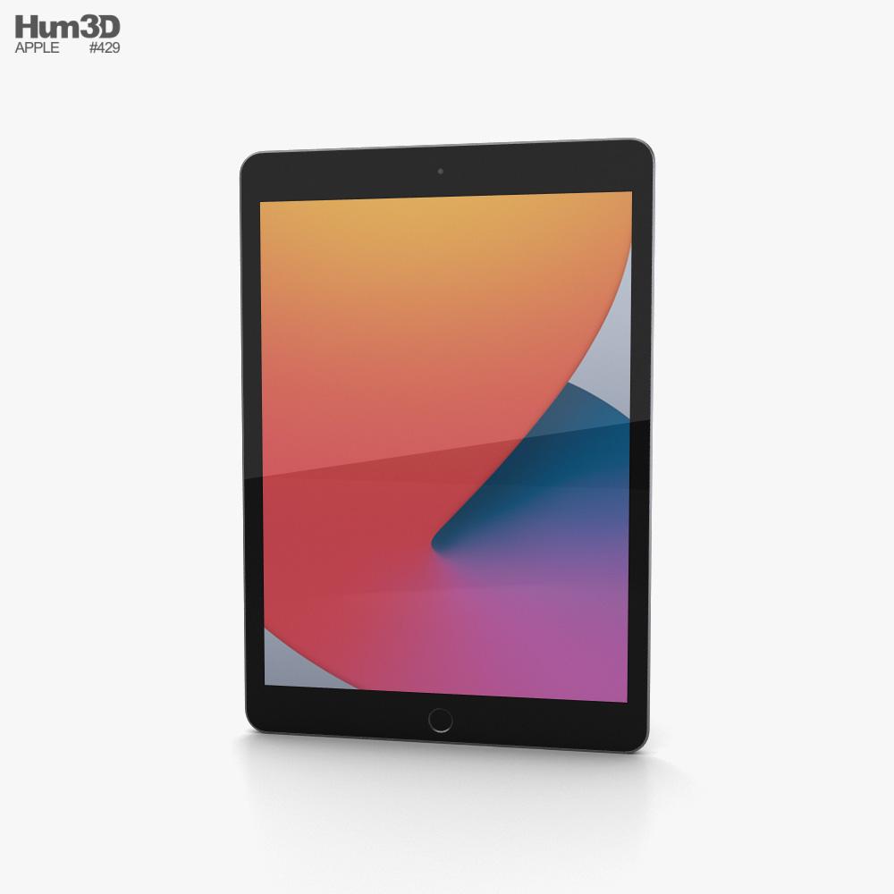 Apple iPad 10.2 2020 Space Gray 3D model