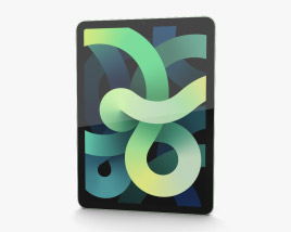 Apple iPad Air 2020 Cellular Green Modelo 3d