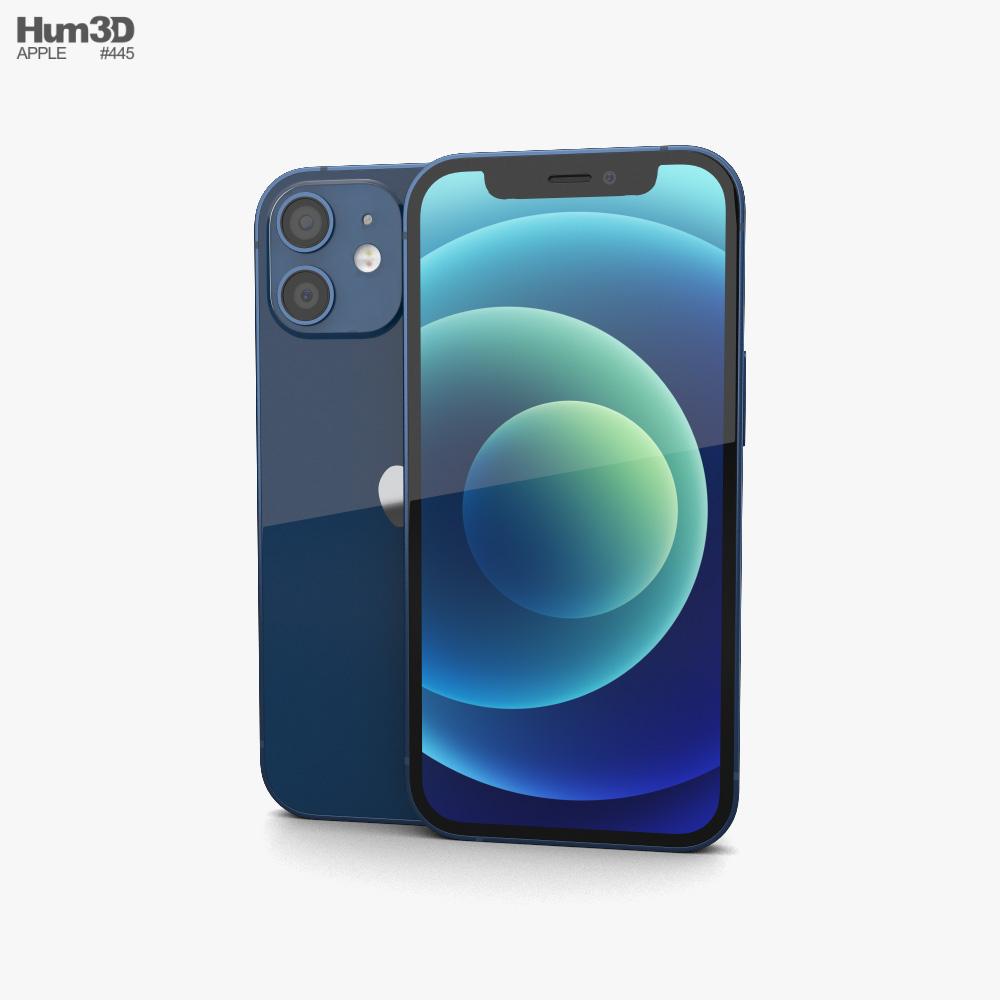 Apple iPhone 12 mini Blue 3D model