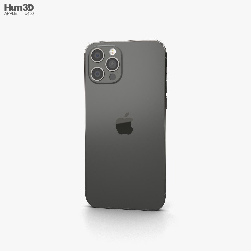 Apple iPhone 12 Pro Graphite 3d model