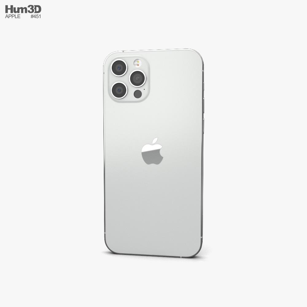 Apple iPhone 12 Pro Silver 3d model