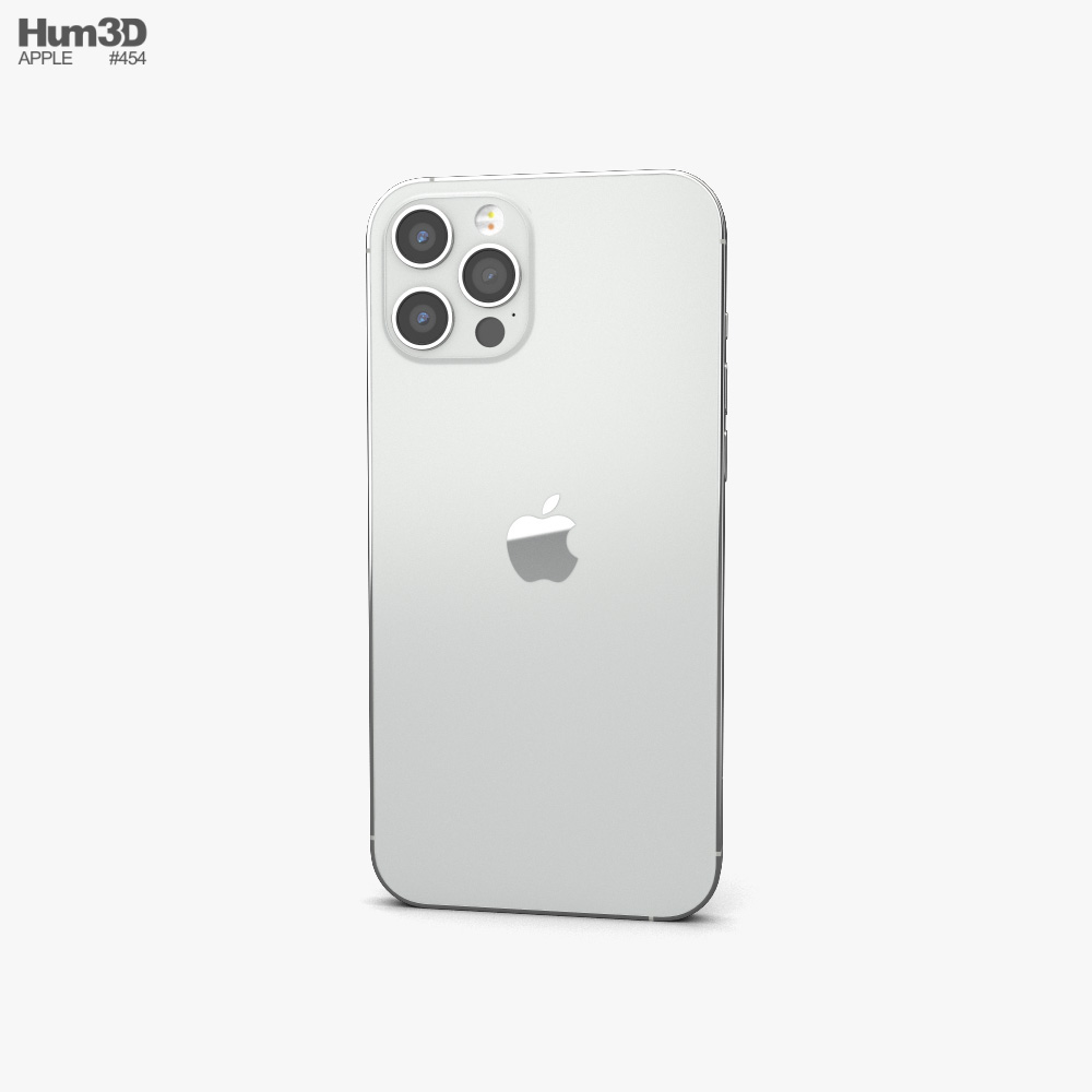 Apple iPhone 12 Pro Max Silver 3d model