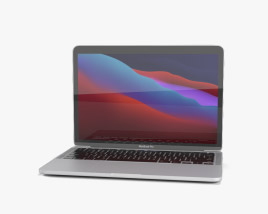 3D model of Apple MacBook Pro 13-inch 2020 M1 Silver