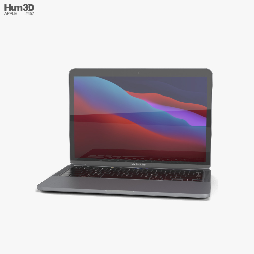 Apple MacBook Pro 13-inch 2020 M1 Space Gray 3D model