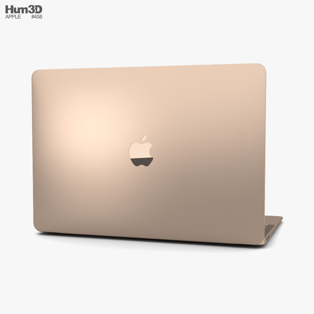 Apple MacBook Air 2020 M1 Gold 3d model