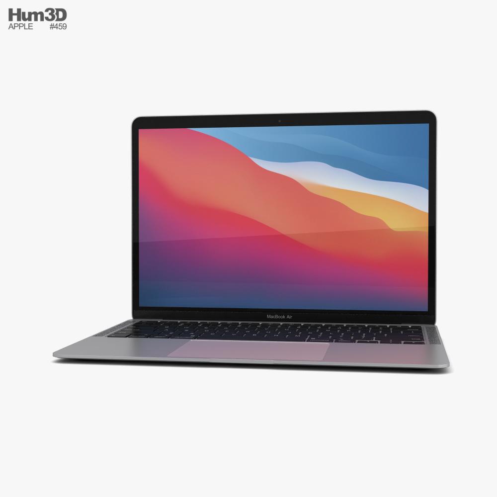 Apple MacBook Air 2020 M1 Silver 3D model